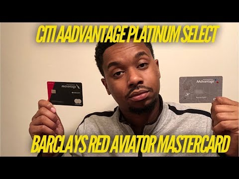 Citi AAdvantage Platinum Select Or Barclays Red Aviator Card?