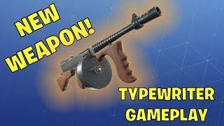 *NEW* Fortnite STW Road Trip Weapon: Typewriter Assault Rifle Gameplay
