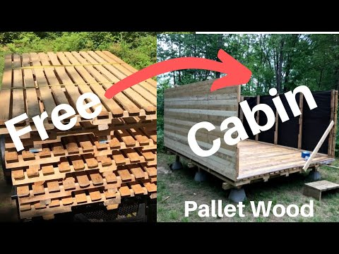 hunting-cabin-built-with-free-pallet-wood-pt.2---mini-cabin