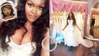 SHOP WITH ME: WEDDING DRESS TRY ON   PLUS SIZE   INSPO   VLOG