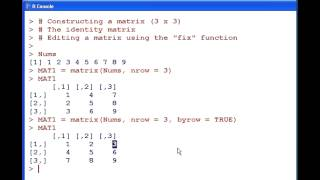 R Tutorial : Creating a Matrix