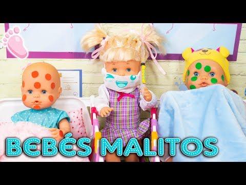 NOA Y NOE: Virus en la escuela SuperBaby! Los bebés se ponen malitos, tienen que quedarse en el cole
