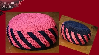 """Pouf  all'uncinetto facile """"Soft candy"""" -  tutorial passo a passo"""