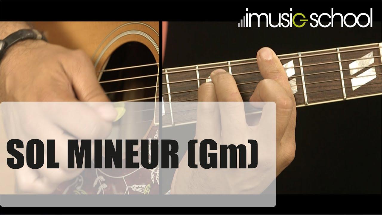 Accord de Sol mineur ( Gm ) à la guitare