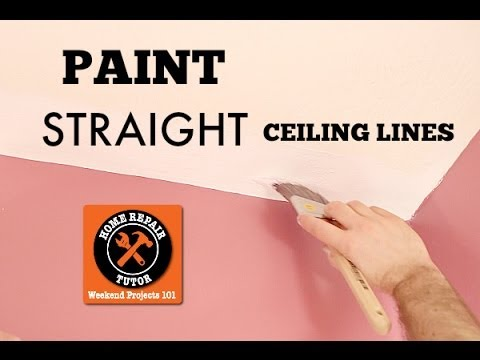 How To Paint A Straight Ceiling Line In A Bathroom By