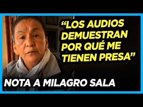 HABLÓ MILAGRO SALA TRAS FILTRARSE LOS AUDIOS DEL JUEZ