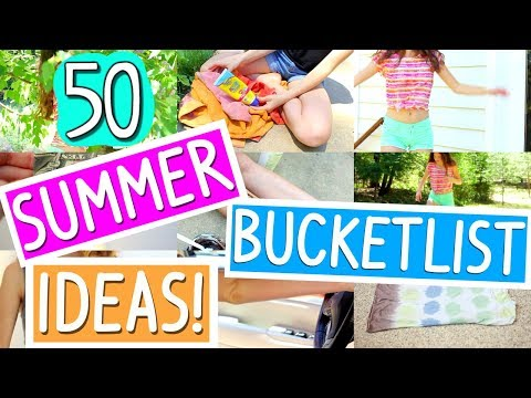 50 SUMMER BUCKETLIST IDEAS! // 50 things to do when you're bored in summer!