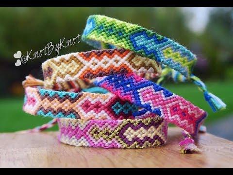 55343bae9d8f9 DIY How to make an Aztec style friendship bracelet Step by Step tutorial |  boho | Creative Twins