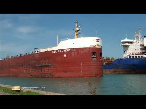 Ships CSL LAURENTIEN and ROSY passing on Welland Canal