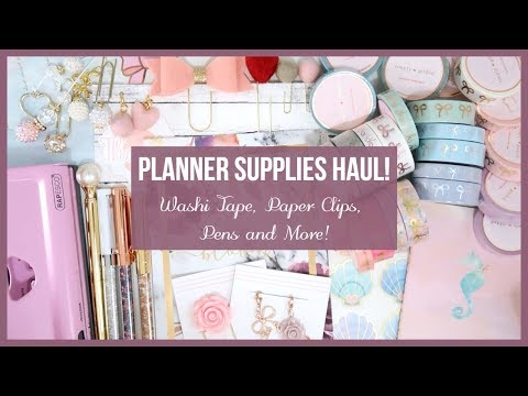 Planner Supplies Haul || Washi Tape, Paper Clips, VB Pens and more! // Plan with Juli