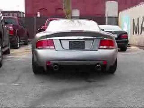 Quicksilver Exhaust On A 2005 Aston Martin Vanquish S Youtube