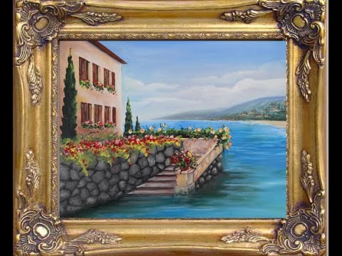 "How to paint mediterranean view ""Stears to the Sea"""