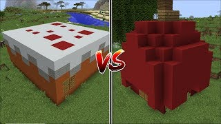 Minecraft CAKE HOUSE VS APPLE HOUSE MOD / FIND THE BEST FOOD HOUSE !! Minecraft
