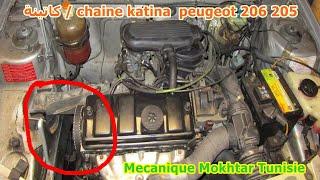 Mecanique mokhtar- montage chaine katina de distribution peugeot 206 205  essence