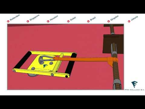 Yellow Magnet with Sling to secure Pilot Ladder