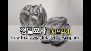 정밀묘사 잘하는 법, 연필소묘 정물화 How to dr…