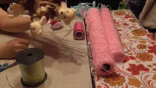 Букет из игрушек мастер класс (how to make a bunch of toys)