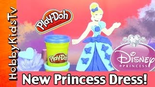 Cinderella New Play-doh Design-a-dress! Minions Help Disney Princess, Hobbykidstv