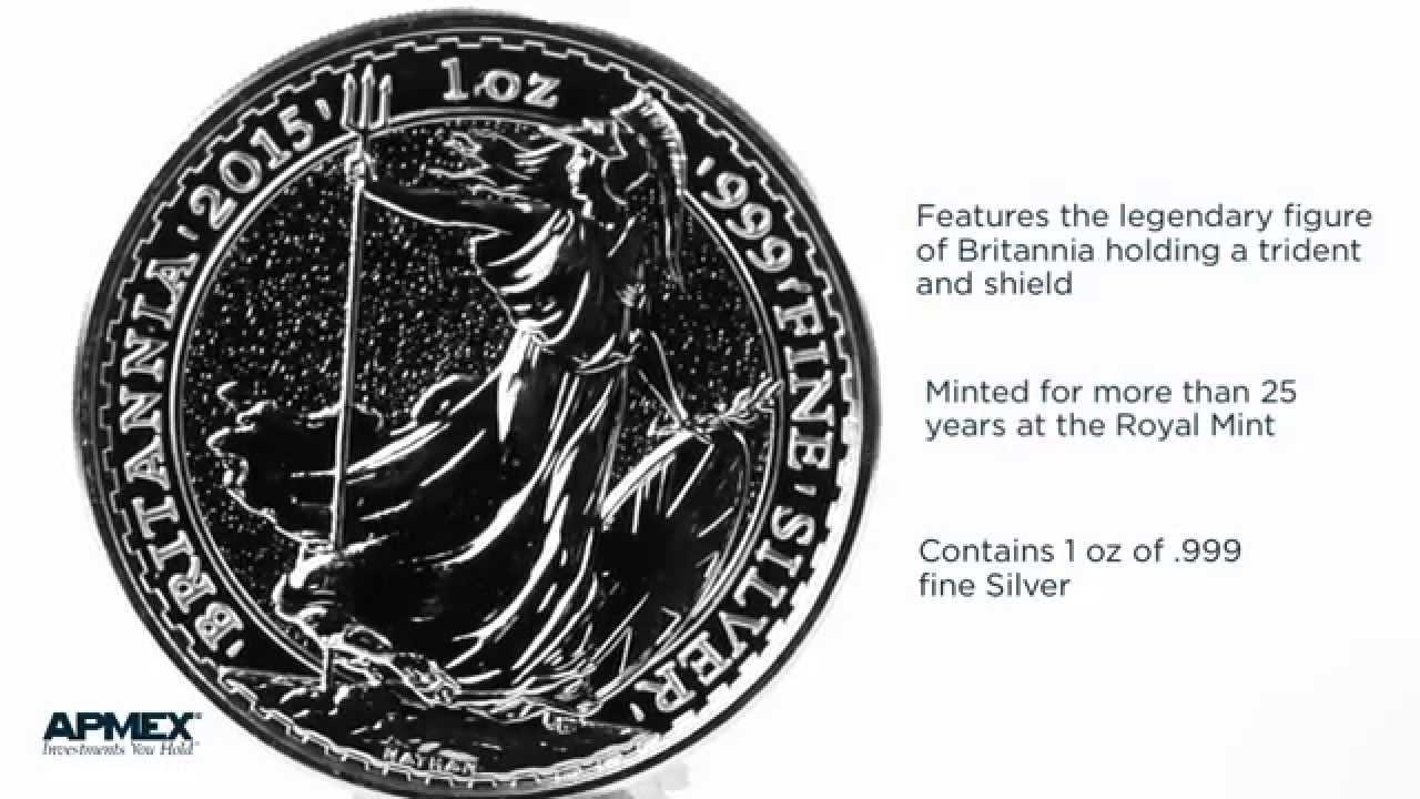 2015 British Britannia 2 Pound Coin 1 oz .999 Fine Silver