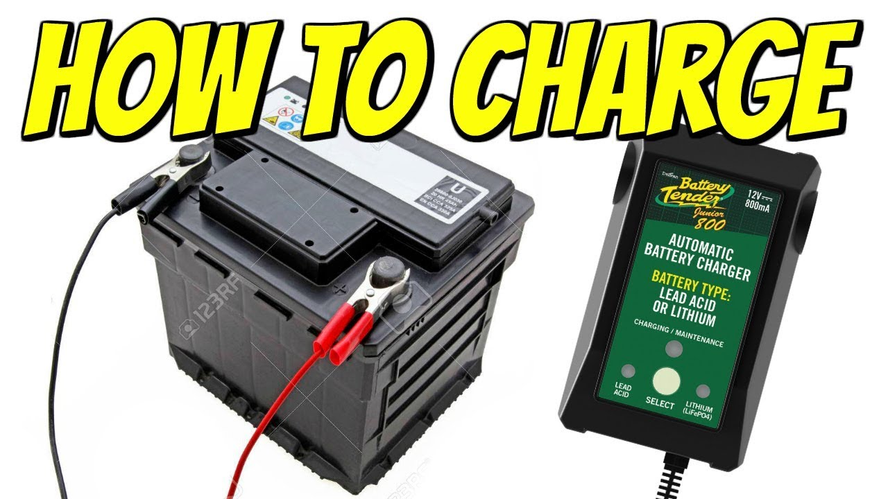 How To Charge A Car or Motorcycle Battery Like A Pro - YouTube