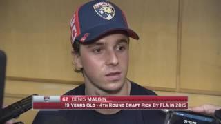 Denis Malgin -- Florida Panthers vs. Detroit Red Wings 10/15/2016