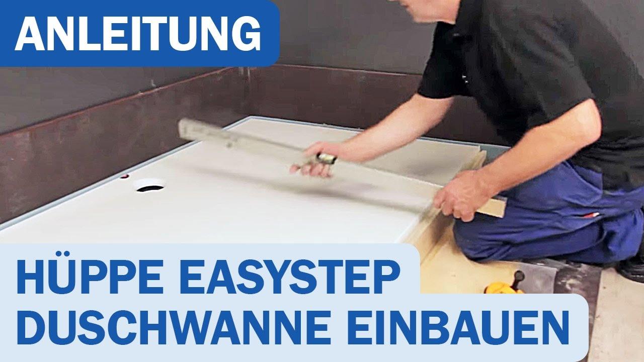 EasyStep Duschwanne von Hüppe Montagevideo - YouTube | {Duschwanne flach einbauen 49}