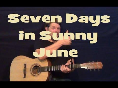Seven Days In Sunny June Jamiroquai Guitar Lesson Strum Chords How