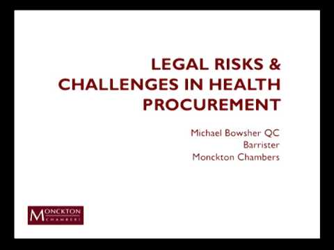 Legal Risks and Challenges in Health Procurement: An Open Fo