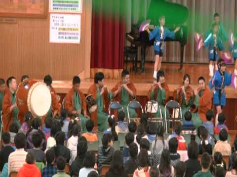 多古町立久賀小学校20周年下座