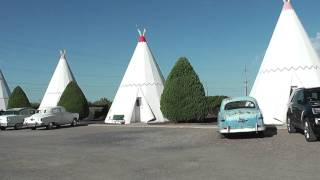 Outside Wigwam Hotel on old Route 66, Holbrook, Arizona