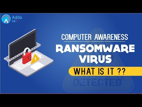 COMPUTER AWARENESS   RANSOMWARE VIRUS  What Is It ?  Online Coaching for SBI IBPS Bank PO
