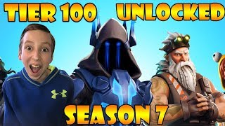 'NOUVEAU' SEASON 7 Battle Pass 100% Unlocked (Tier 100) À Fortnite! CollinTV Jeux