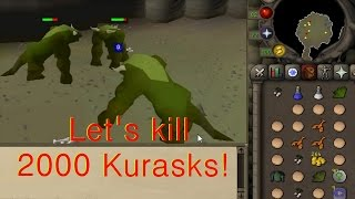 Runescape 2007 Let's kill 2000 Kurasks!