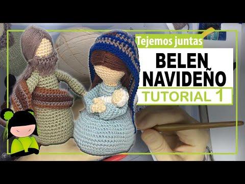 BELEN NAVIDEÑO AMIGURUMI ♥️ 1 ♥️ Nacimiento a crochet 🎅 AMIGURUMIS DE NAVIDAD!
