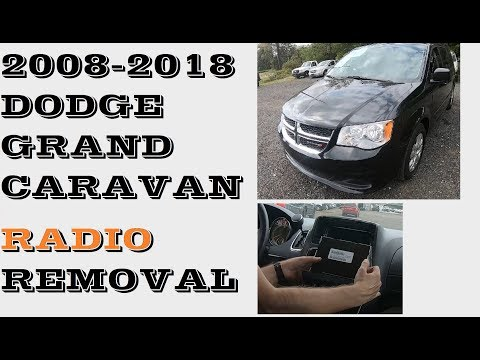 How to remove replace  RADIO in Dodge Grand Caravan 2008-2018