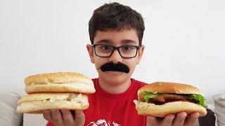 Hamburgerci Amca Buğra Bize Hamburger Sattı. Berat Köftelerini Yedi