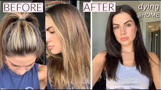 Dying My Hair At Home | From BLONDE to BRUNETTE