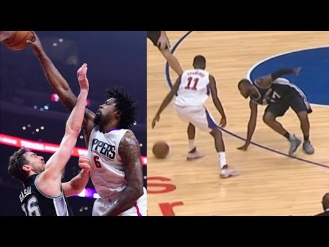 Jamal Crawford Ankle Breaker! DeAndre Jordan Dunks on Pau Gasol! Spurs vs Clippers