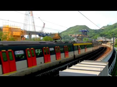 {EAL} Northbound SP-1900 train ( E227-E225 ) passing Kau Lung Hang
