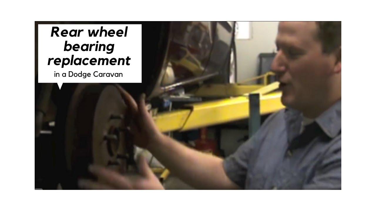 medium resolution of dodge caravan rear wheel bearing replacement