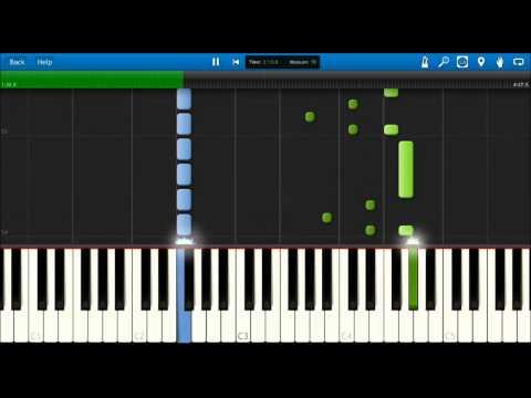 Synthesia(無料ソフト)自動演奏&ピアノ専用音源合成 楽譜の配布はしておりませんので、ご了承ください。
