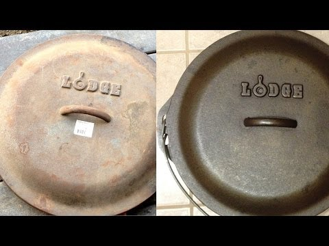 Restoring Rusted Cast Iron Dutch Ovens, Pans & Cookware With Electrolysis (the best method)