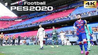 PES 2020 (PC) Barcelona vs Real Madrid | LA LIGA EL CLASICO GAMEPLAY | 4K 60FPS