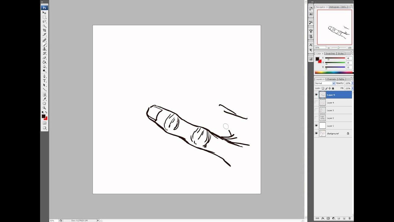 Fingers Art Drawing