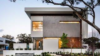 Современный проект дома с плоской крышей. Дизайн интерьера частного дома.(Дизайн интерьера частного дома. Современный проект дома с плоской крышей., 2015-03-12T10:05:20.000Z)
