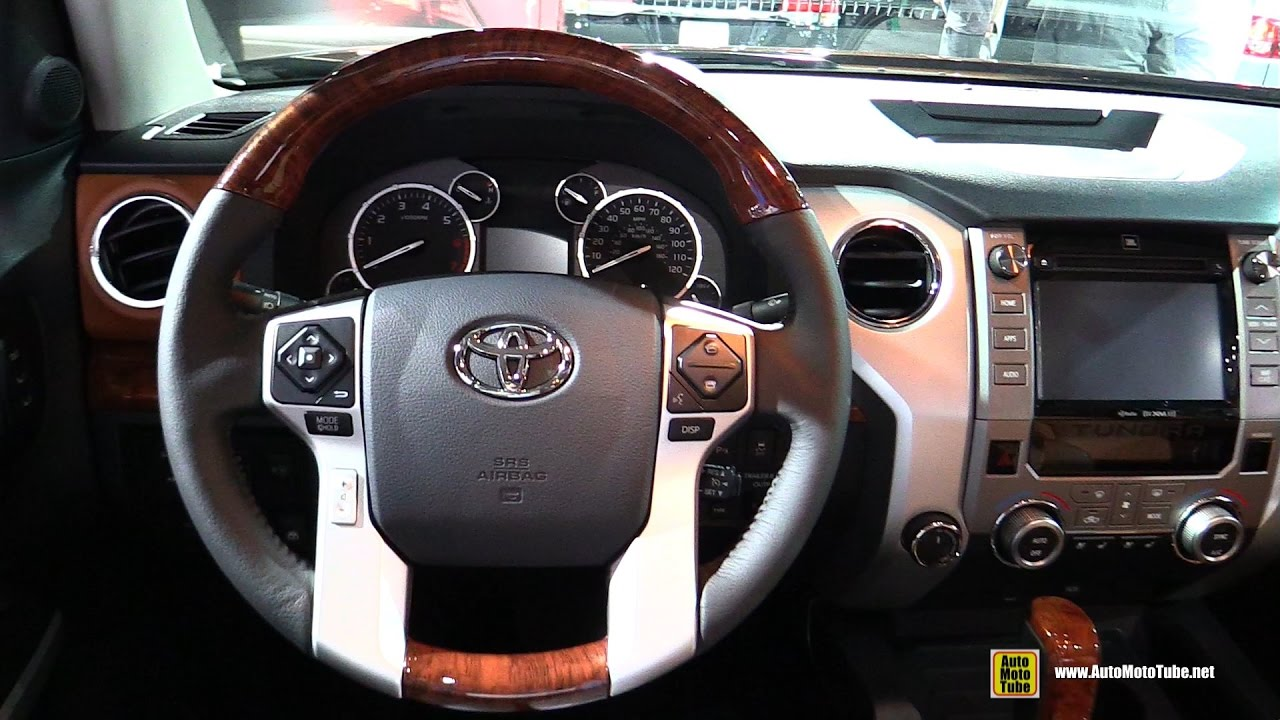 2017 Toyota Tundra 1794 Edition Interior Walkaround 2016 La Auto Show Youtube
