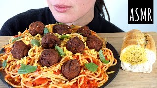 ASMR Eating Sounds: Spaghetti and Veggie Balls (No Talking)