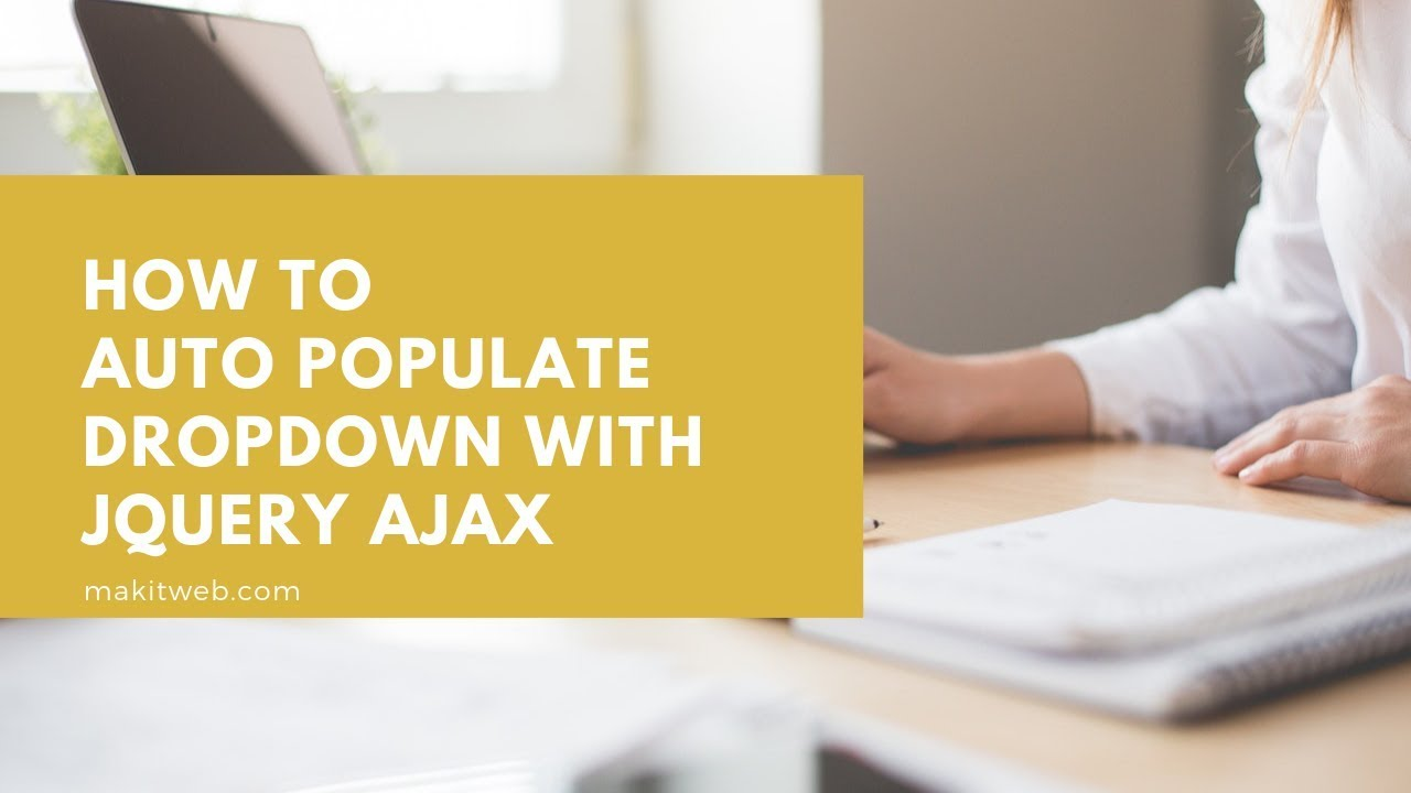 How to Auto populate dropdown with jQuery AJAX