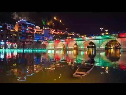 The Beautiful Nightlights of Zhenyuan