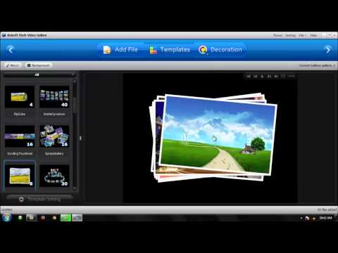 Creating Slideshow using Kvisoft Flash Slideshow Designer 1.60
